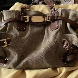 Michael Kors Bags - Michael Khors canvas and leather purse